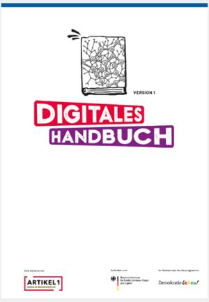 Schriftgrafik: DIGITALES HANDBUCH