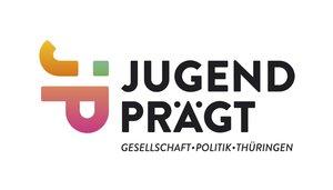 Schriftgrafik: JUGEND PRÄGT. GESELLSCHAFT. POLITIK. THÜRINGEN