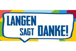 """Logo der Aktion """"Langen sagt Danke!"""""""