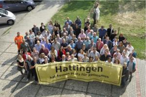 Die Bediensteten der Stadtverwaltung Hattingen brachten die Banner-Aktion gegen Rassismus ins Rollen. In dieser Bildergalerie zeigen wir sieben Beispiele. Bild: PfD Hattingen