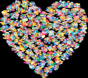 Herz aus vielen bunten Händen, Bild: pixabay