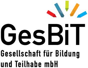 Schriftgrafik: GesBiT. Gesellschaft für Bildung und Teilhabe mbH