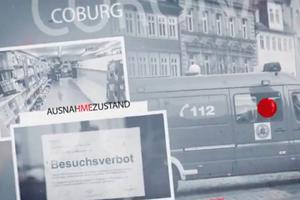 """Bild: Ausschnitt aus dem Video-Vorspann der Video-Clip-Reihe """"Gemeinsam ist unsere Demokratie stärker als jedes Virus!""""."""